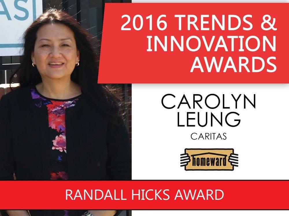 2016 Trends & Innovation Awards Randall Hicks Award pic